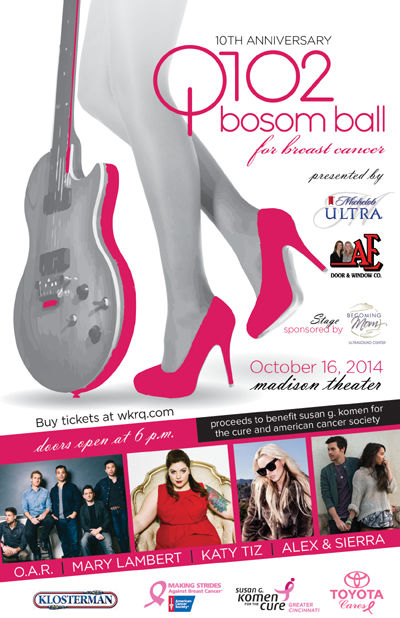 Tickets Q102 Bosom Ball O A R Cincyticket